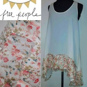 New!🏵️Free People Sheer Floral Layered Tank!